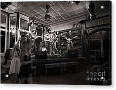 Two Girls Dancing At The Purple Fiddle Acrylic Print by Dan Friend