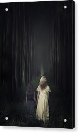 Two Girls In A Forest Acrylic Print by Joana Kruse