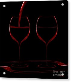 Two Glass Red Acrylic Print