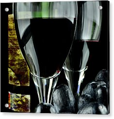 Two Glasses With Red Wine Acrylic Print