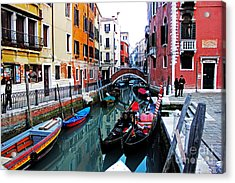 Two Gondolas Acrylic Print by Alison Tomich