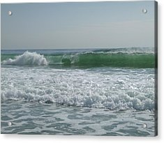 Two Green Waves Acrylic Print