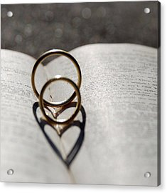 Two Hearts As One Acrylic Print