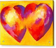 Two Hearts Beat As One Acrylic Print by Stephen Anderson