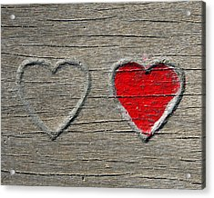 Acrylic Print featuring the photograph Two Hearts by Brooke T Ryan