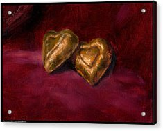 Two Hearts Acrylic Print by Diana Moses Botkin