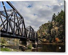Two Iron Bridges Acrylic Print by Anthony Thomas