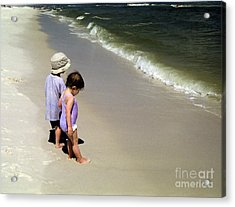 Two Kids At The Beach Acrylic Print
