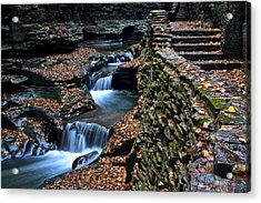 Two Kinds Of Steps Acrylic Print by Frozen in Time Fine Art Photography