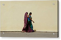 Two Ladies Acrylic Print by Kees Colijn