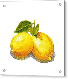 Two Lemons Acrylic Print