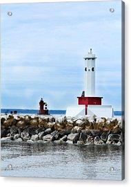 Two Lighthouses Acrylic Print