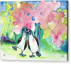 Two Little Boobies Support Breast Cancer Awareness Week Acrylic Print by Dale Bernard