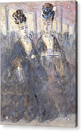 Two Lorettes At The Theater Acrylic Print