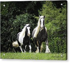 Two Lovely Girls Acrylic Print