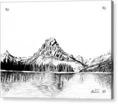 Two Medicine Mountain Acrylic Print by Kayleigh Semeniuk