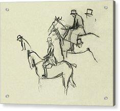 Two Men Horse Riding Acrylic Print