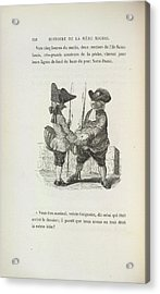 Two Men With Fishing Rods Acrylic Print by British Library