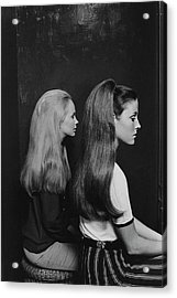 Two Models Wearing Hairpieces Acrylic Print by Ted Hardin