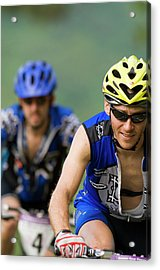 Two Mountain Bike Racers Ride Acrylic Print