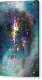 Two Of Wands/stars - Artwork For The Science Tarot Acrylic Print