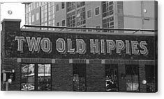 Two Old Hippies In Nashville Acrylic Print