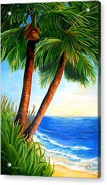 Two Palms Acrylic Print by Shelia Kempf