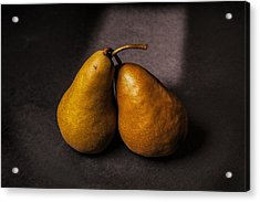 Two Pear Acrylic Print by Peter Tellone