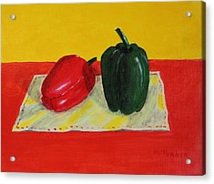 Two Peppers Acrylic Print