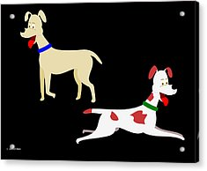 Two Pet Dogs Acrylic Print
