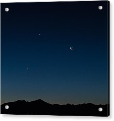 Two Planets And A Moon Acrylic Print