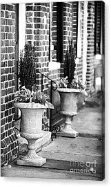 Two Planters By The Door Acrylic Print by John Rizzuto