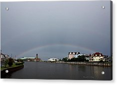 Two Pots Of Gold Acrylic Print by Russell  King