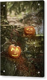 Two Pumpkins Acrylic Print by Amanda Elwell