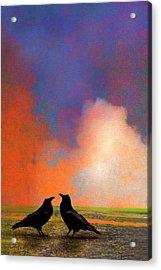 Two Ravens Acrylic Print