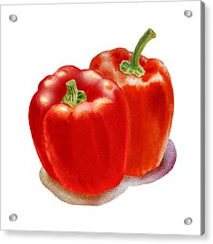 Two Red Peppers Acrylic Print