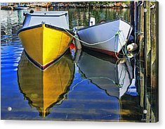 Two Row Boat At Fisherman's Cove Acrylic Print by Ken Morris