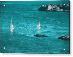 Two Sailboats Acrylic Print