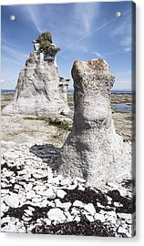Acrylic Print featuring the photograph Two Sculpted Rocks On Naked Isld by Arkady Kunysz