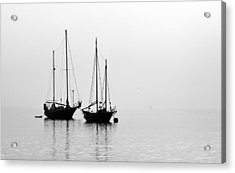 Two Ships In The Fog Acrylic Print