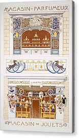 Two Shop-front Designs A Perfume Acrylic Print by Rene Binet