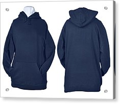 Two Side Of Wrinkled Blank Blue Shirts Acrylic Print by Pbombaert