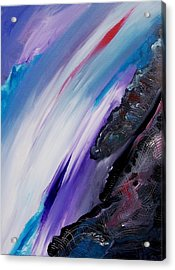 Acrylic Print featuring the painting Two Sides Of A Story by Ray Khalife
