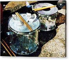 Two Snare Drums Acrylic Print by Susan Savad