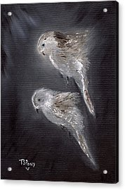 Acrylic Print featuring the painting Two Spirits In The Night by Barbie Batson