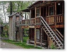 Two Story Outhouse - Nevada City Montana Acrylic Print by Daniel Hagerman