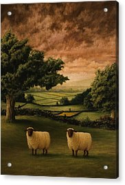 Two Suffolks Acrylic Print by Mark Zelmer