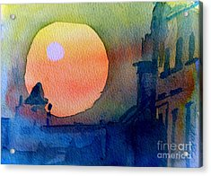 Two Suns Acrylic Print by Sandra Stone