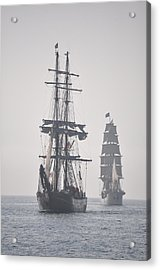 Two Tall Ships In Door County Acrylic Print