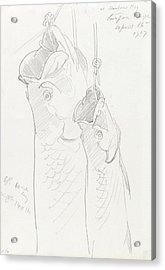 Two Tarpon, 1917 Acrylic Print by John Singer Sargent